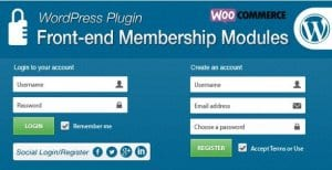 Front end Membership Modules