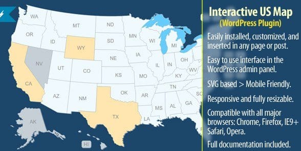 FREE] Interactive US Map – WordPress Plugin 2020