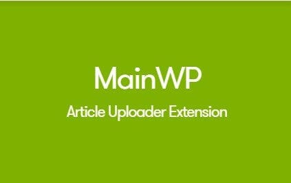 MainWP Article Uploader