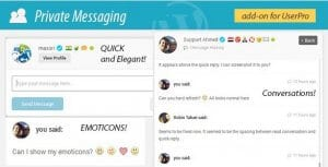 Private Messages for UserPro