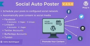 Social Auto Poster – WordPress Plugin