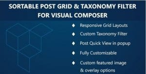 Visual Composer – Sortable Grid TaxonomyFilter