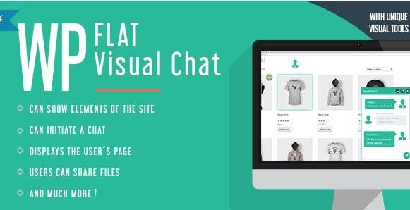 WP Flat Visual Chat – Live Chat Remote View for WordPress