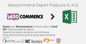 Woocommerce Export Products to XLS 1