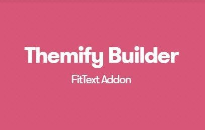 Themify Builder FitText Addon