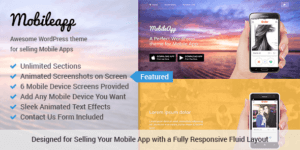 MyThemeShop MobileApp WordPress Theme