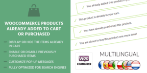 MyThemeShop WooCommerce Products Already Added To Cart