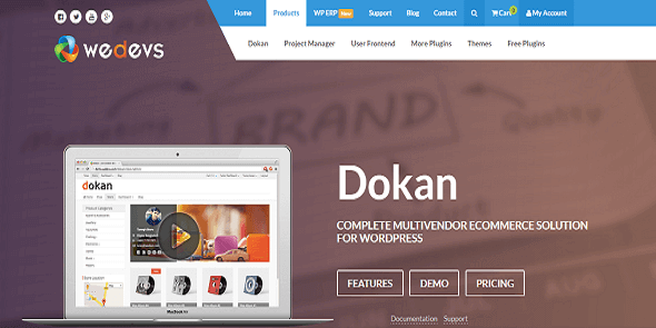 WeDevs Dokan eCommerce WordPress Theme